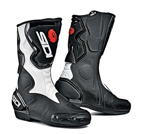 Sidi Fusion Motorradstiefel, Schwarz-Weiß, Größe: 50