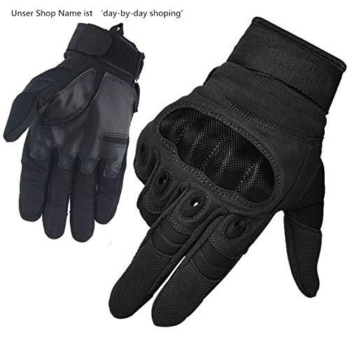 Limirror Herren Taktische Handschuhe Handschuhe Fahrradhandschuhe Motorrad Handschuhe Outdoor Sport Handschuhe Fitness Handschuhe Army Gloves Ideal für Airsoft,Militär,Paintball (Schwarz,L)