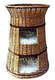 Floranica - Alta cesta per gatti Letto per gatti Giaciglio per gatti con / senza cuscino (a scelta) , colore cuscino:claras, Modello:torre natura