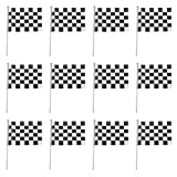 12pcs Bandera Negro y Blanco a Cuadros F1 Fórmula