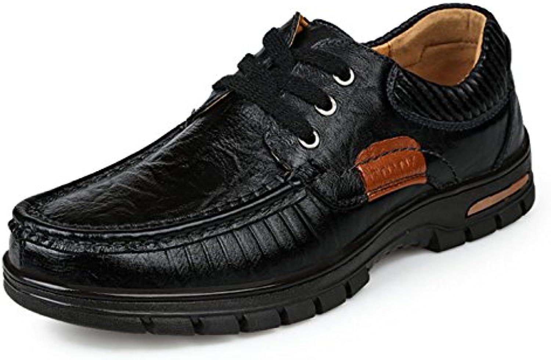 Herren Erwachsener Herbst Schnürsenkel Mittelalter Wasserdicht Warm Büro weissher Boden Derby Schuhe