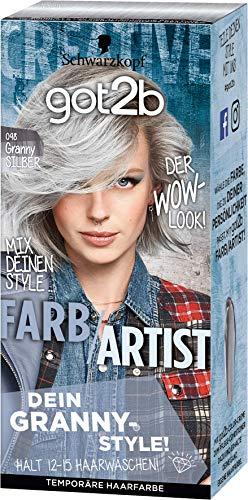 Schwarzkopf Got2b Farb/Artist Haarfarbe, 098 Granny Silber, 3er Pack (3 x 80 ml)