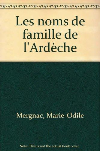 Les noms de famille de l'Ardèche