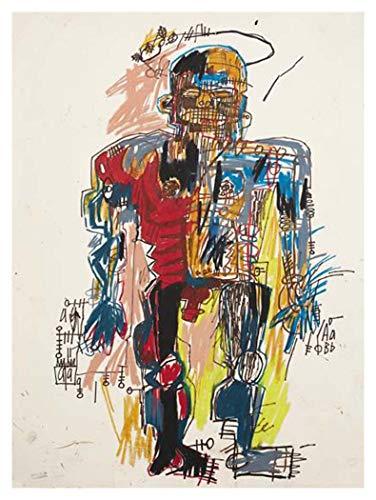 JH Lacrocon Selbstporträt 1982 von Jean-Michel Basquiat - 90X120 cm Graffiti-Kunst Leinwand Gemälde Handgemalt Reproduktionen Gerollte Wandkunst für Wohnzimmer - Kunst Jean Basquiat Michel