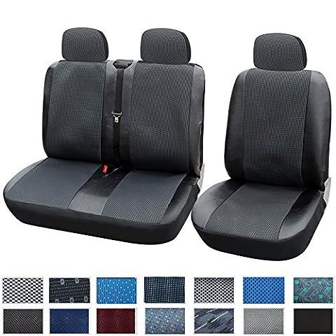 WOLTU AS7323 Housse de siège pour camionnette,Housse de siège voiture universelle,housses pour siège,couvre siège,Noir Gris