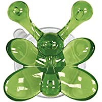 Kleine Wolke 5068657887 Crazy-Gancho de Pared en Forma de Mariposa Lisa plástico, Color Verde