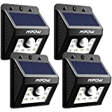 Mpow 4 Stück 8 LED Solar Leuchte Sicherheits-, Bewegungs Solarlampe mit 3 Intelligenten Modi für Garten, Innenhöfe, Balkons, Einfahrt, Treppen, Außenwand - 4 Stück