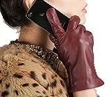 Damenmode Brauthandschuhe Damen Lederstickerei Handschuhe Kurze Warme Fäustlinge - Best Reviews Guide