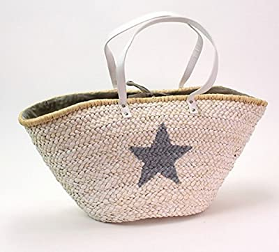 XL Bolsa De Playa Con Estrella Funda Bag Shopper playa Shopping Color Blanco