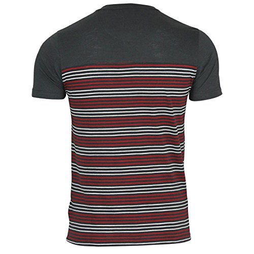 Brave Soul Herren T-Shirt Charcoal | Red