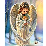 Wongfon DIY 5D Stickerei Diamant Malerei Kreuzstich Hand Angels Mosaic Wohnkultur 25 CM * 30 CM