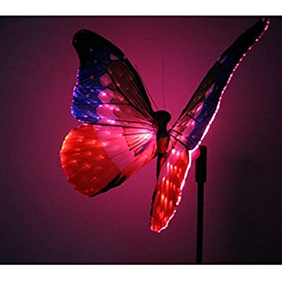2pcs Solar Powered Butterfly In-Ground Light for all Outdoor Decoration