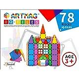 ARTMAG IQ TILES ARTMAG IQ-TILES Magnetic Tiles for Kids - 78 Pieces