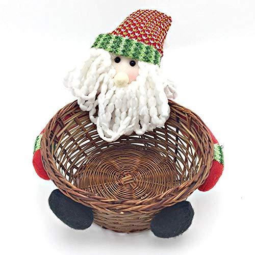 FLYWS Weihnachten Halloween Ornamente Heiligabend Apple Box Weihnachtsmann Schneemann Elch Puppe Geschenkbox