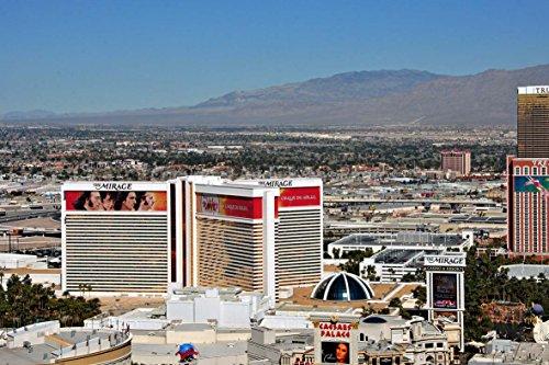 Eine 45,7 x 30,5 cm Fotografieren Hochwertiger Fotodruck der Mirage Hotel gesehen Eiffelturm Replica bei Paris Hotel Casino Las Vegas Nevada USA Landschaft Foto Farbe Bild Art Print -
