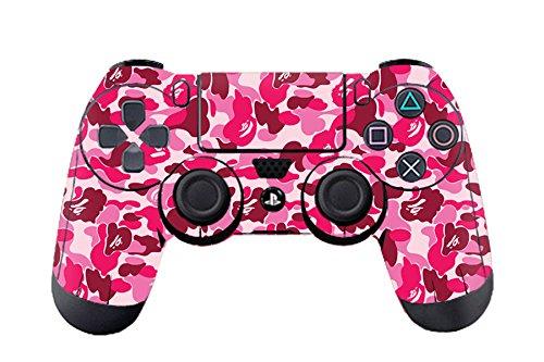 Morbuy PS4 Controller Skin Diseñador Piel Pegatina para Sony PlayStation 4 PS4 Slim PS4 Pro DualShock mando inalámbrico x 1 (Graffiti Pink)