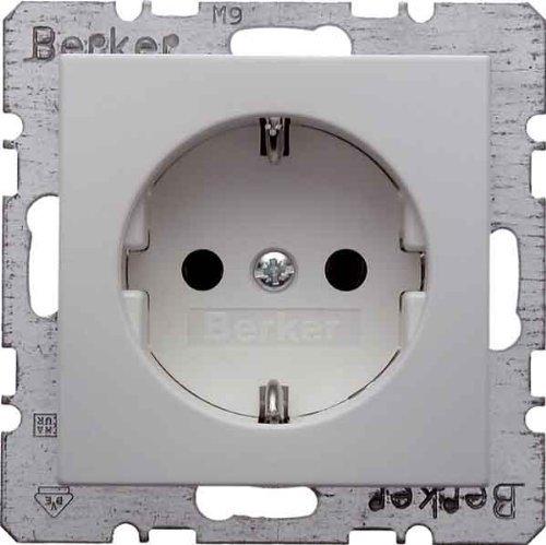 BERKER Steckdose SCHUKO 47438989 polarweiss glaenzend (5 Stück Steckdose)