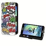 deinPhone Samsung Galaxy S5 Mini Kunstleder Flip Case Comic Boom