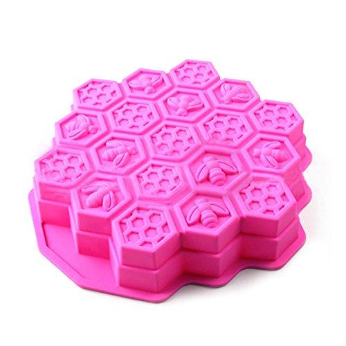 Zantec Bienenwaben Kuchen Formen für Kinder Silikon Backkuchen Süßigkeits Plätzchen Form Backformen