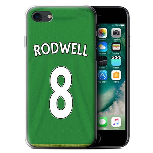 Offiziell Sunderland AFC Hülle / Gel TPU Case für Apple iPhone 7 / Brown Muster / SAFC Trikot Away 15/16 Kollektion Rodwell