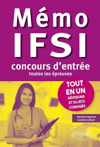 Mémo IFSI : tout en un, révisions et sujets corrigés