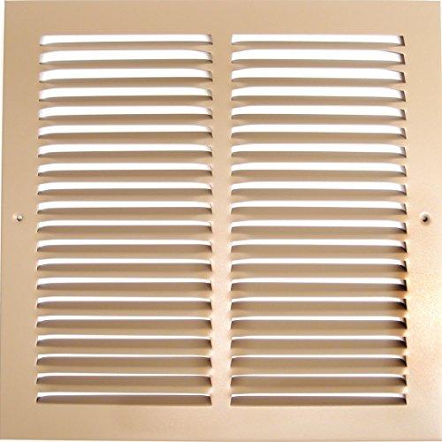 35,6cm W x 15,2cm H Stahl Return Air Strand-Seitenwand und CIELING-Klimaanlage Duct Cover-Braun [Außenmaß: 40cm W x 19,7cm H] -