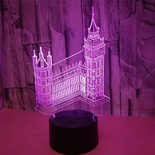 Big Ben 3D Nachtlichter 7 Farbwechsel Visuelle Acryl London Architekturmodell Lichter Schlafzimmer Home Tischlampen