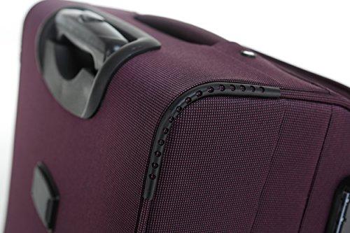 518dtOMeNlL - Beibye 4ruedas maleta de viaje 8005plástico maletín equipaje Maleta Juego de L XL de m en 5colores (Lila, Juego)