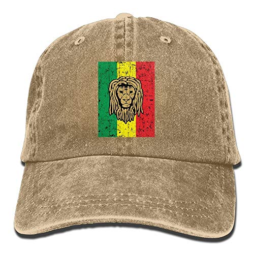Preisvergleich Produktbild Rasta Lion Jamaica Flag Mens Adjustable Denim Trucker Hat Sun Visor Cricket Cap
