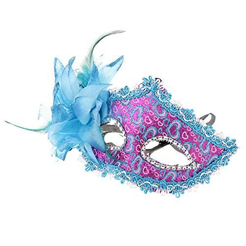 MagiDeal Blumendeko Venezianische Augenmaske Maskerade Maske Masquerade Kostüm -