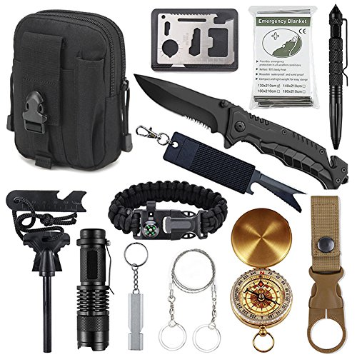 Kits de supervivencia de emergencia 11 en 1, herramientas de supervivencia profesional de Tianer Kit...