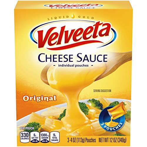 Velveeta Original Cheese Sauce 1 box with 3-4 oz. Pouches