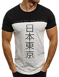 OZONEE Herren T-Shirt mit Motiv Kurzarm Rundhals Figurbetont Camouflage BREEZY 540BT