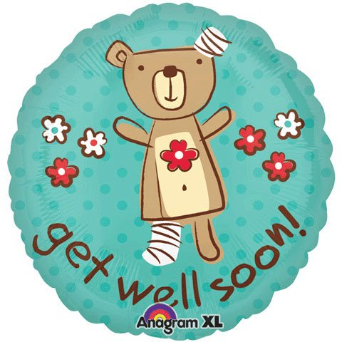 Amscan International Get Well Huggable Bear Balloons