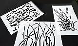 Acid Tactical® 3 Pack - 22,9 x 35,6 cm Gras Tree Bark Camouflage Vinyl Airbrush Spray Paint Schablonen - Duracoat cerakote Gun