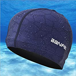 SheShy Uomini Impermeabile a prova di umidità Formato adulto cappello nuoto flessibile Cuffia da nuoto Cotton Fiber