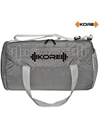 Kore Champ Gym Bag With One Side Pocket, One Side Ventilated Mesh And Carry Handels (Grey)
