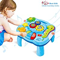 ACTRINIC Musical Learning Table Baby Toys 6 to12 Months Early Education Music Activity Center BEST Entertaining & Game Table Toddlers Toys