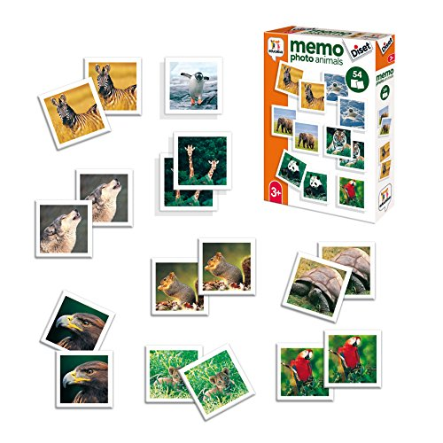 Diset- Memory Animales Fotos + 3 años Juguete educativos