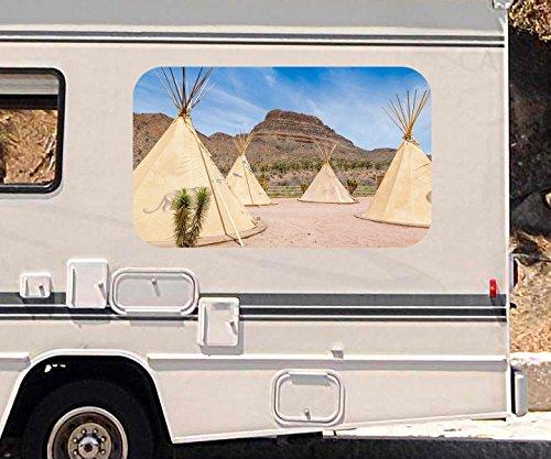 3d-autoaufkleber-indianer-dorf-zelt-usa-amerika-berg-wuste-wohnmobil-auto-fenster-motorhaube-sticker