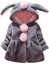 HUHU833 Baby-Kapuzen Mantel,Baby Säuglingsmädchen Herbst Winter mit Kapuze Mantel Umhang Jacke Starke warme Kleidung
