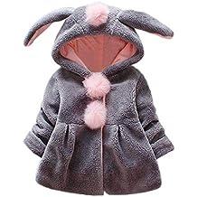 Amlaiworld Abrigos Bebe niñas,Chaqueta con Capucha de Orejas de Conejo de Venonat para niños