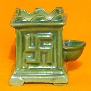 Ceramic Tulsi Pot - 3 inch Light Green