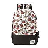 Winnerbag Lächeln Emoji Gesicht Drucken Rucksack Weibliche Mode bunte Bookbags Leinwand Travel Rucksack für Mädchen im Teenageralter Schultasche