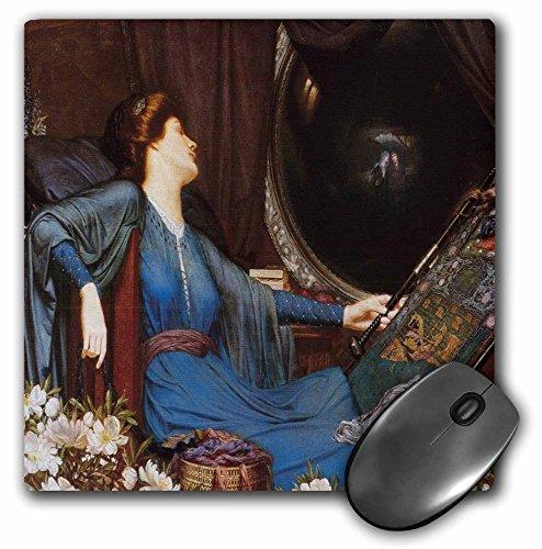 3drose LLC 20,3x 20,3x 0,6cm Maus Pad, ich bin die Hälfte-Sick von Schatten, said the Lady of Schalotte by Sidney Harold Meteyard (MP 149526_ 1)