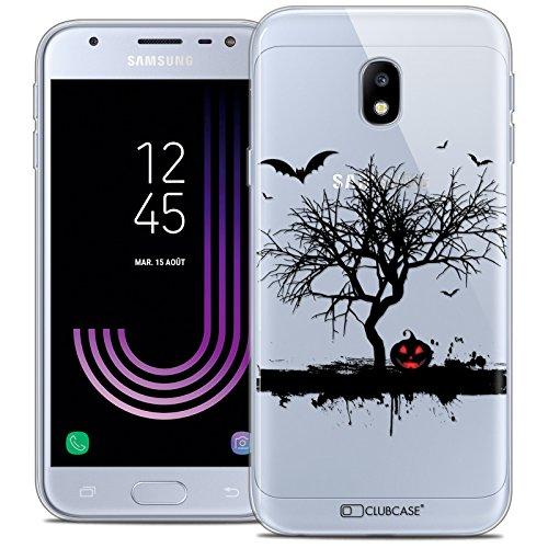Caseink Hüllle für Samsung Galaxy J5 2017 J530 (5.2 Handyhülle Back case [Crystal Gel HD Sammlung Halloween Design Devil s Tree - Flexibel - Ultra Fin - Auf Wunsch frisch in Frankreich gedruckt]