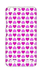 Amez designer printed 3d premium high quality back case cover for Lenovo K5 Plus (Romantic Pink Color Hearts4)