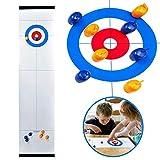 Basisago Tabletop Curling-Spiel, Tragbare Tabletop-Spiele Kompakte Curling-Spiele Für Familien, Erwachsene Und Kinder Team Brettspiel-Training Für Innenräume Oder Reisen Kompakte Aufbewahrung