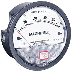 Dwyer Magnehelic Differential Pressure Gage, 2015D, Dual Range: 0-15 w.c. & 0-3.73 kPa
