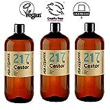 Naissance Huile de Ricin (n° 217) Pressée à froid - 3 Litres (3 x 1L) - 100% pure, végan, sans hexane, sans OGM
